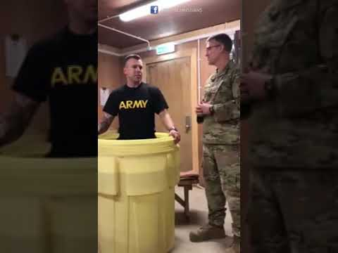 Emotional feeling of American soldier before get baptised in iraq