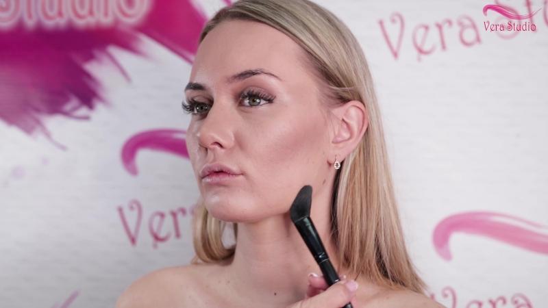 Verastudio урок № 13 Вечерний макияж в коричневой гамме