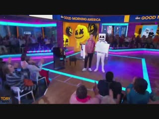 Marshmello ft. Bastille - Happier (Live Performance on Good Morning America)