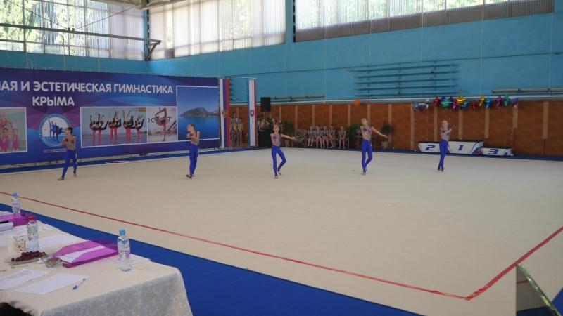 выступление алуштинских гимнасток на турнире