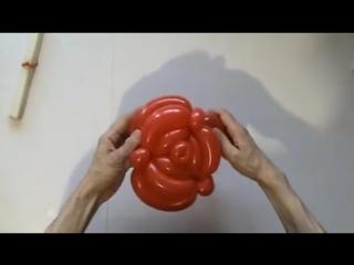 Роза из шаров (треугольная)  Rose balloon (triangle type)2x260
