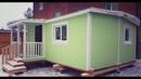Мини дом 6х4 6м Ватель со свайный фундаментом