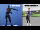 Fortnite Emotes vs Forza Horizon 4 Emotes