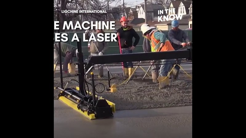 The 'Ligchine' concrete machine can cut the labor time in half