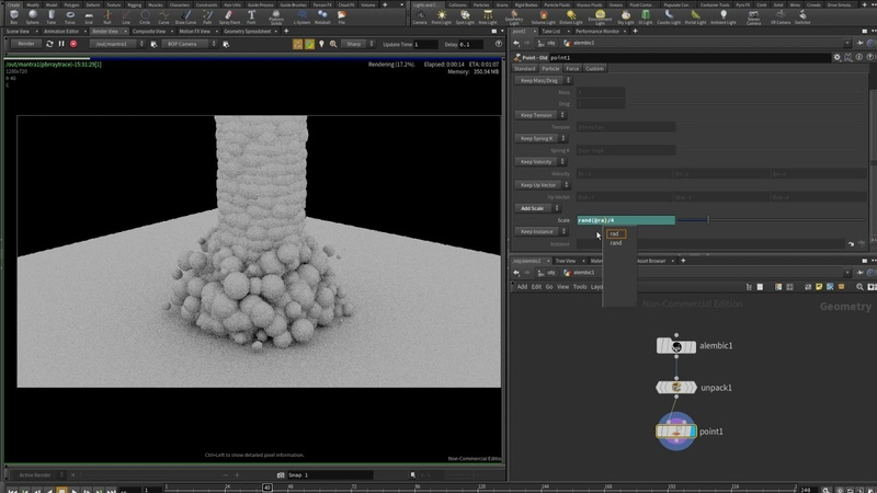 How to render Alembic particle sequence with Mantra - Houdini