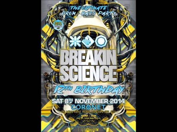 DJ Brockie Serial Killaz with MC Det Ragga Twins Breakin Science 12th Birthday