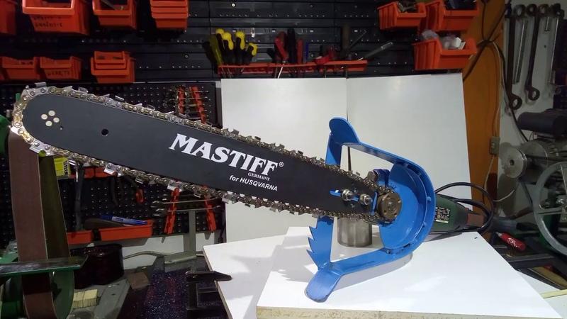 Homemade chainsaw from angle grinder / piła łańcuchowa ze szlifierki kątowej