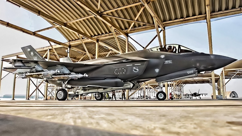 F-35A Lightning IIs Takeoff From UAE With Full Weapons Load