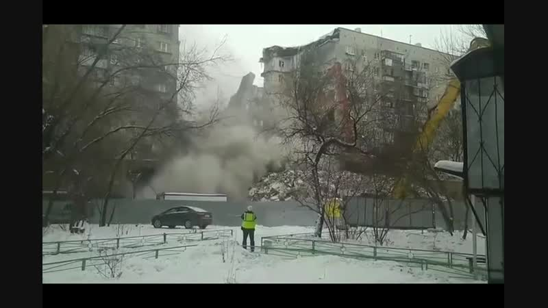Магнитогорске при сносе дома обрушилась крупная часть взорвавшегося дома СМИ сообщают, что обрушение было незапланированным