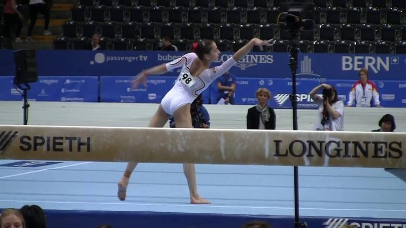 2016 European Championships Olivia Cimpian ROU FX Juniors Qualifications