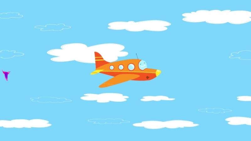 Песни для детей - Самолет ✈ Веселые развивающие мультики и песенки про самолет,