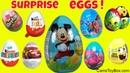 Surprise Eggs Chocolate Kinder Disney Cars Shopkins Paw Patrol Joy Mickey Mouse Easter SpongeBob