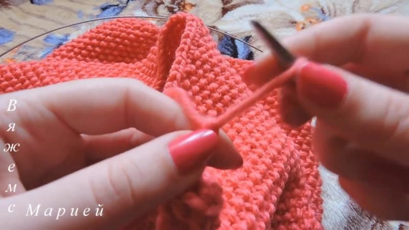 Вяжем спицами. Снуд. Шарф-труба -- Knitting needles. Scarf tube