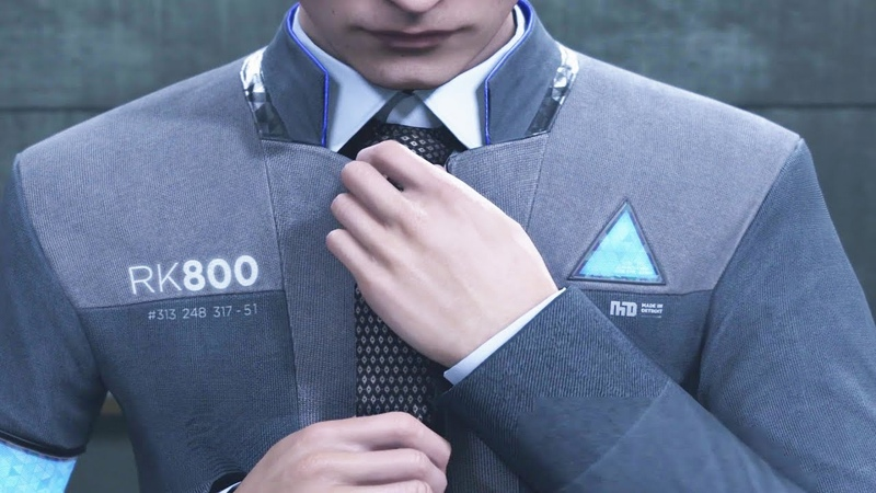 Connor Straightens His Tie - Detroit Become Human