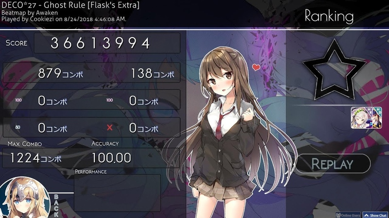 Osu! | Cookiezi | DECO*27 - Ghost Rule [Flask's Extra] HD,HR 100% SS 1 | 462pp if ranked