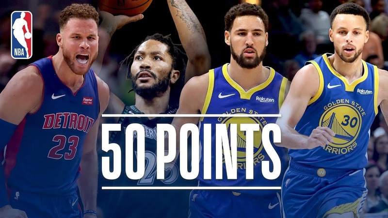Best Of The 50 Point Games This Season (Klay, Steph, Rose, Blake)