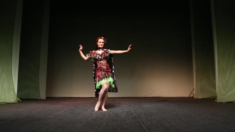 Чемпионат по восточным танцам в Уфе Асабина Анастасия фольклор молодёжь начинающие