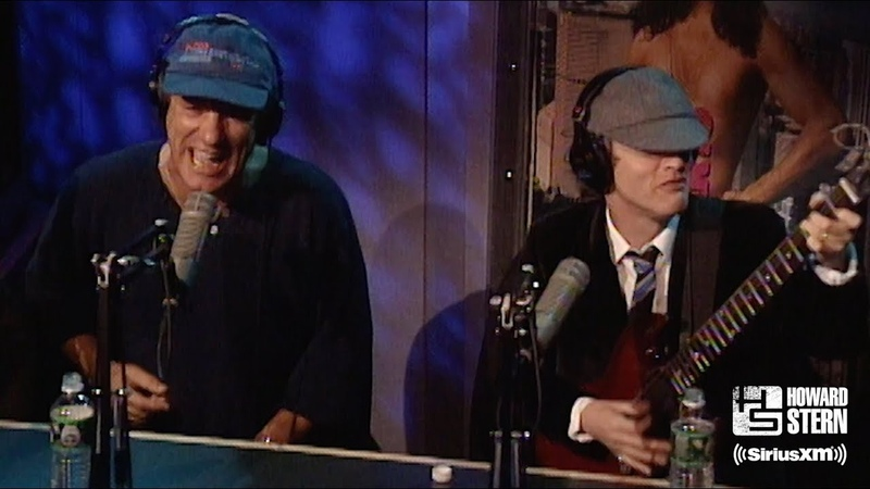 """AC/DC """"You Shook Me All Night Long"""" on the Howard Stern Show"""