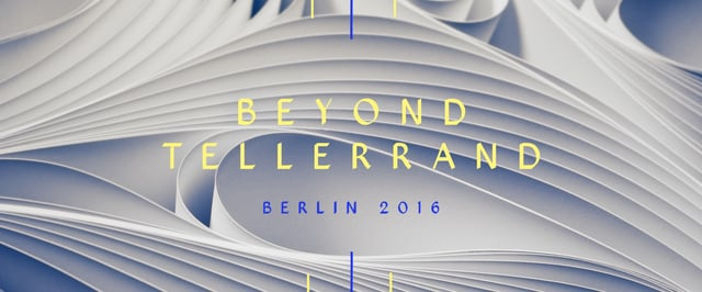 Beyond tellerrand 2016 Berlin - Opening Titles