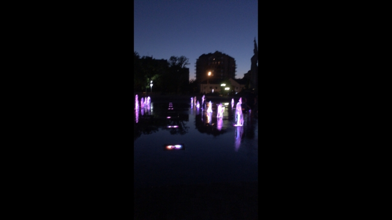 фонтаны на Авроре. Краснодар