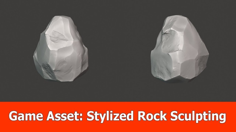Game Asset Pipeline Stylized Rock Sculpting with Blender 2.8