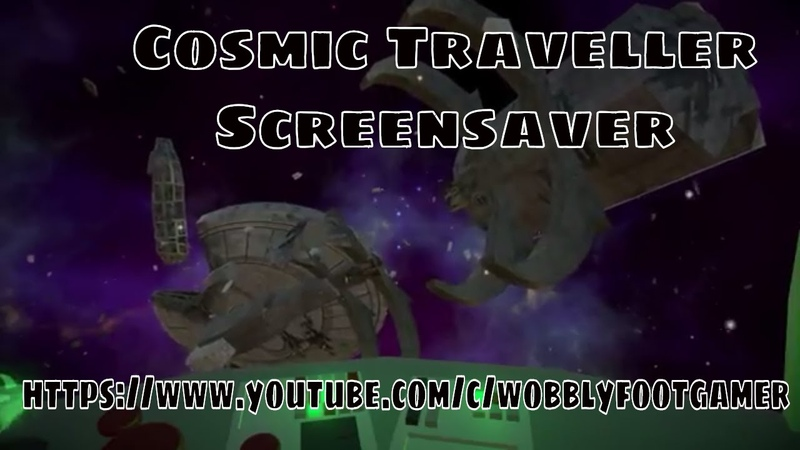 Cosmic Traveller Screensaver | itch.io | vcpenguin.itch.io/cosmic-traveller | wobbly