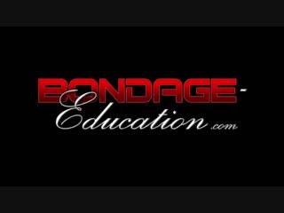 Bondage education hogtied