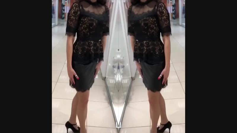 Блуза и юбка с кружевом A.M.N