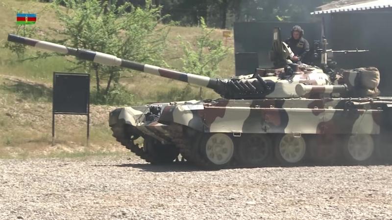 Təlimə cəlb edilmiş tank bölmələri tapşırıqları yerinə yetirirlər - 02.07.2018