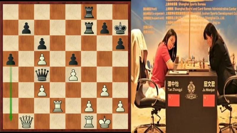 Шахматы. Матч за звание чемпионки мира по шахматам 2018! (Тань Чжунъи- Цзюй Вэньцзюнь)- 2-я партия