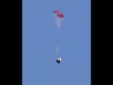 Another view of Crew Dragon parachute test
