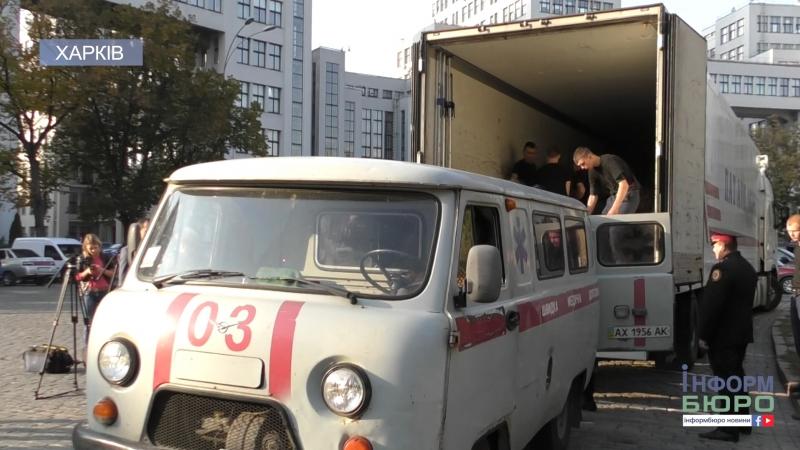 На Чернігівщині горять склади з боєприпасами гуманітарна допомога від Харкова