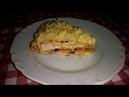 Закуска БЛИННЫЙ ТОРТ С КУРИЦЕИ ГРИБАМИ. Закусочный торт Закуска