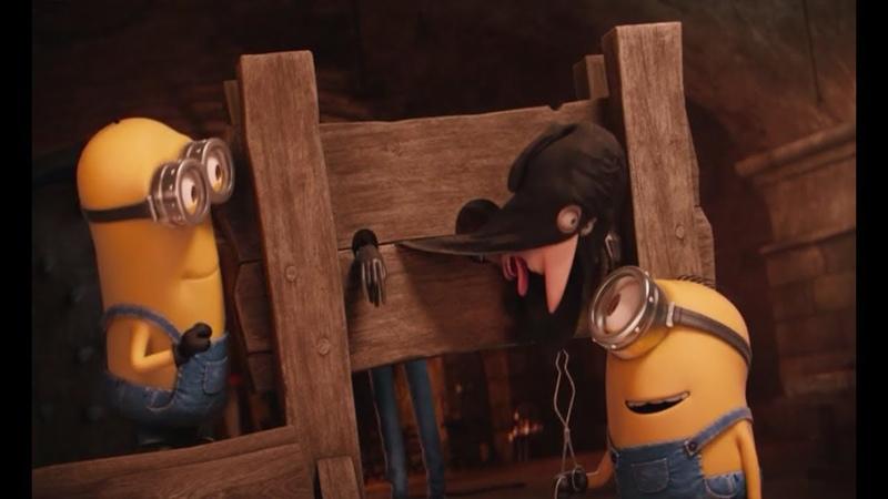 Миньоны пытают Палача. Пытка превращается в веселье. Миньоны (2015)