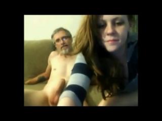 Real dad-daughter webcam