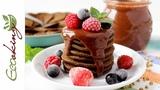 Шоколадные Панкейки из зеленой гречки (без муки и какао!) vegan (постные) gluten free