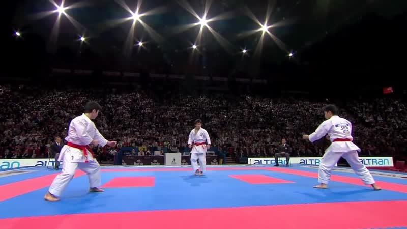 (1_⁄2) Karate Japan vs Italy. Final Male Team Kata. WKF World Karate Champions 2012. 空手日本
