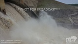 5-22-2019 Ponca City, Ok Kaw Dam high volume water release from drone after torrential rain flooding