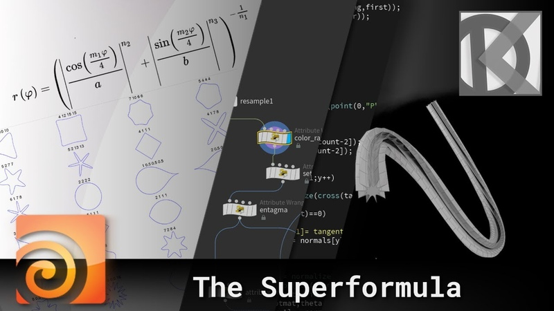 The Superformula in Houdini VEX Quickies