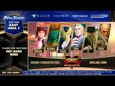 East Asia 1 Top 8 - Capcom Pro Tour Online 2018