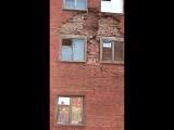 Рушится дом по ул. 20 партсъезда, 55 в Омске