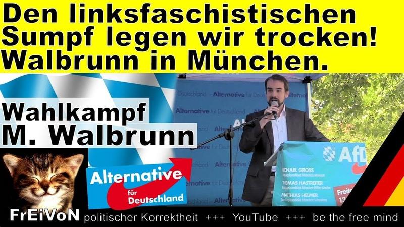 Den linksfaschistischen Sumpf legen wir trocken! Walbrunn (AfD) Bayern