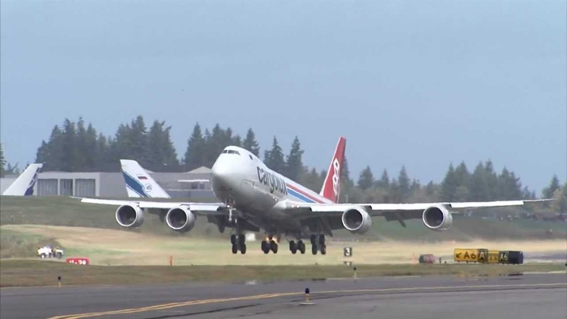 New 747-8 Freighter goes right into service