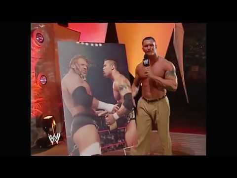 Randy Orton Confronts and Attacks Evolution RAW August 30, 2004