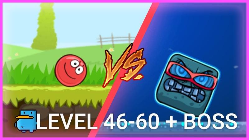 Red Ball 4 - Прохождение 46-60 levels BOSS - БИТВА ЗА ЛУНУ