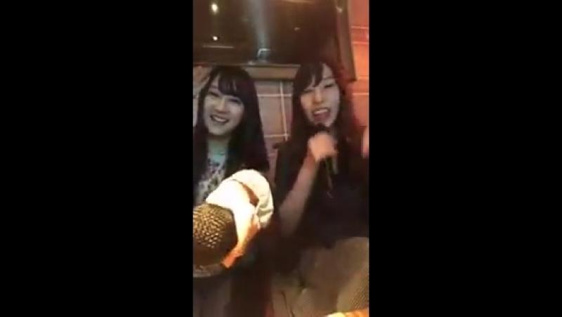 Yagura Fuuko, Fujie Reina - Saigo no go Shakudama @ 20180517 @ Insta Live Fujie Reina