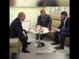 Путин встретился с Хабибом Нурмагомедовым и его отцом