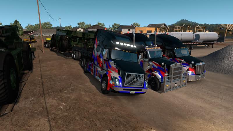 Конвой в American Truck Simulator от TRADE-AUX 13.12.2018