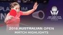 Liu Shiwen vs He Zhuojia | 2018 Australian Open Highlights (1/2)