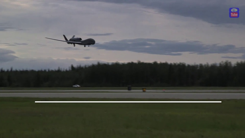 RQ 4 Global Hawk впервые прибыл на АляскуRQ 4 Global Hawk Arrived in Alaska